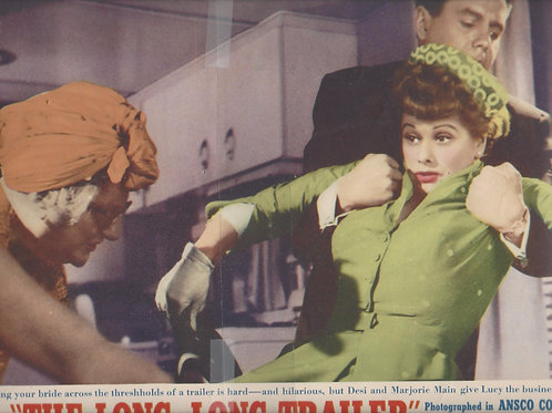 "2 Lobby Cards from ""The Long. Long Trailer"" 1954"