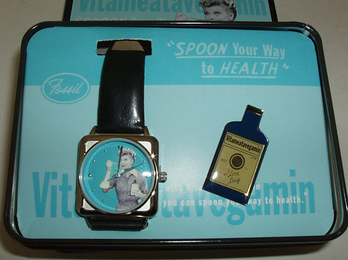 I Love Lucy VITAMEATAVEGAMIN watch by FOSSIL /2000
