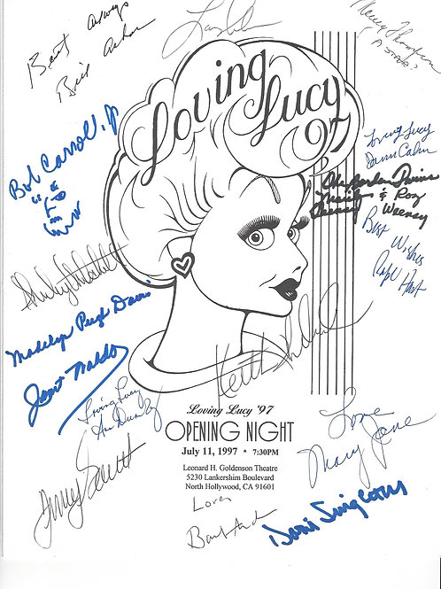 Loving Lucy Program 1997 Signed by 16+