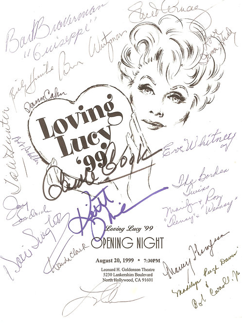 Loving Lucy 1999 Program Signed by 19 +