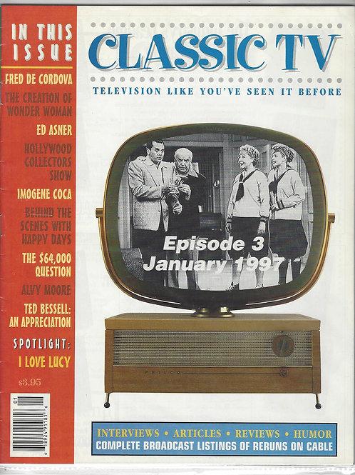 Classic TV Magazine January 1997