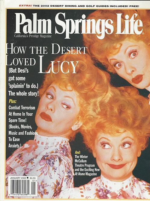 Palm Springs Life Magazine January 2002