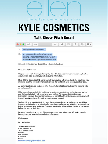 Pitch Email.