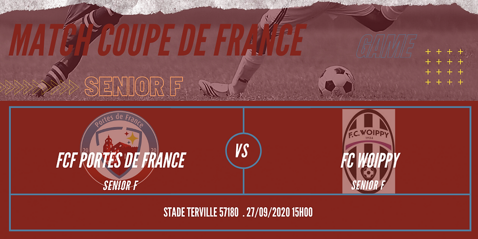 Match de coupe de France Senior A