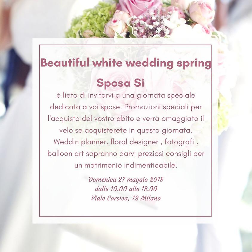 Beautiful White Wedding Spring
