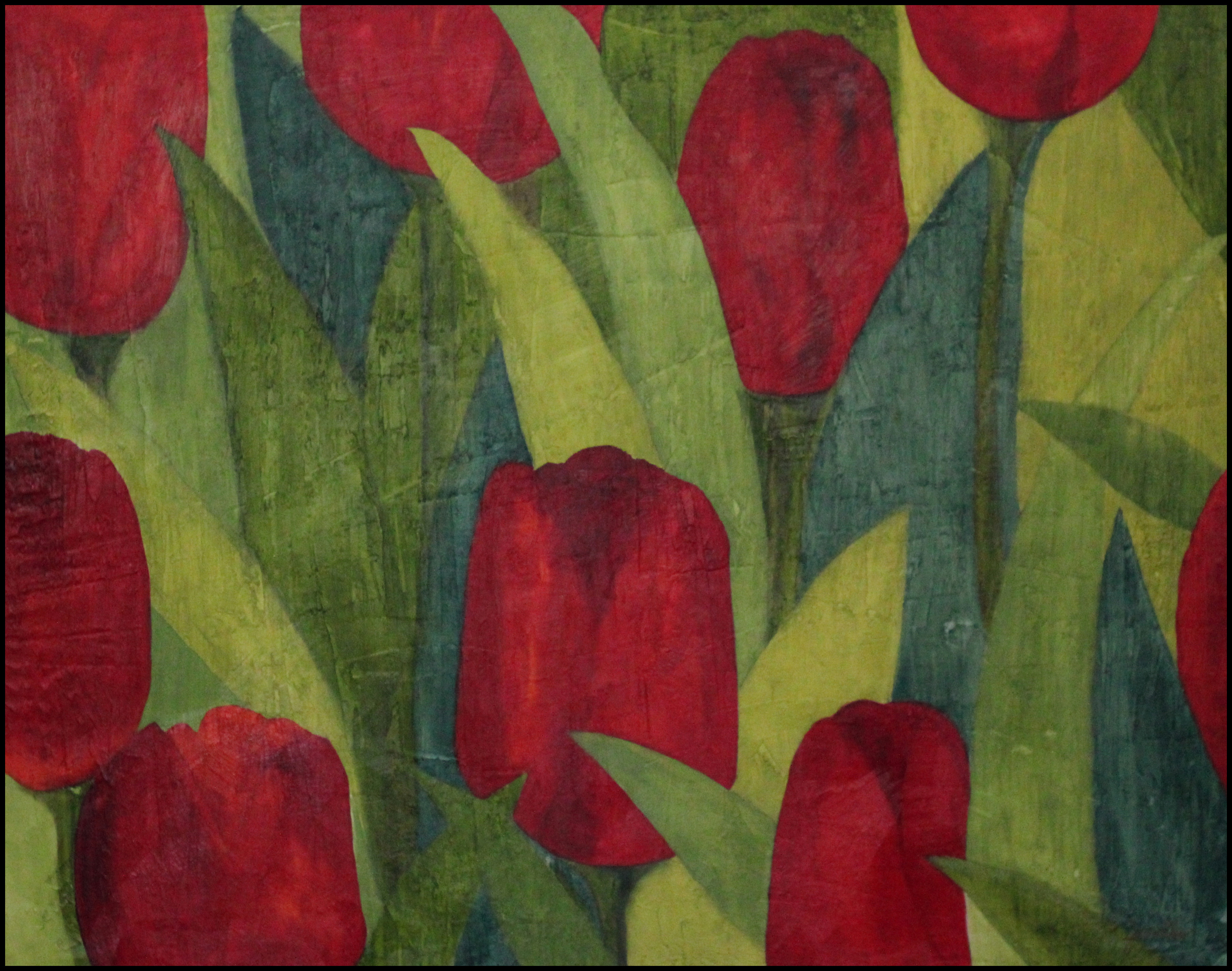 RED TULIPS, 48 X 60