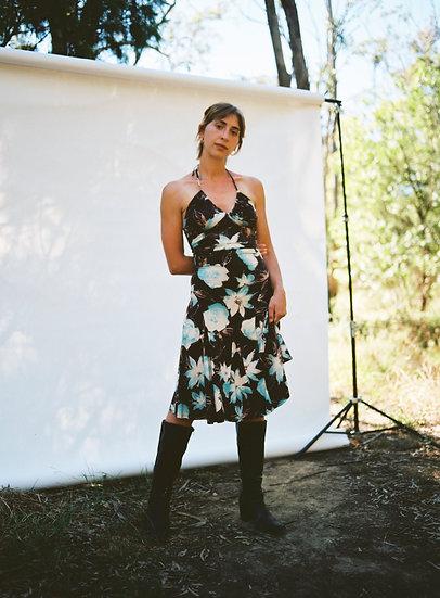 Vintage 90's Floral Halter Dress
