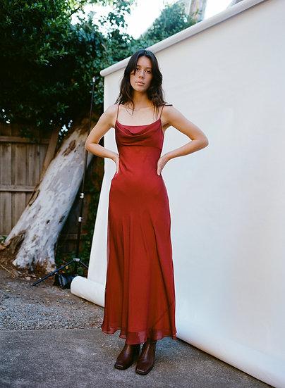 Vintage 90's Drop Neckline Full Length Gown