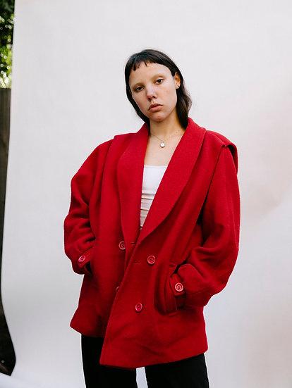 Vintage 80's Pure Wool Pleated Jacket