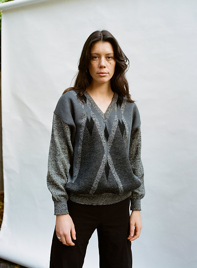 Vintage Farentino 90's 100% Pure Wool Knitted Sweater