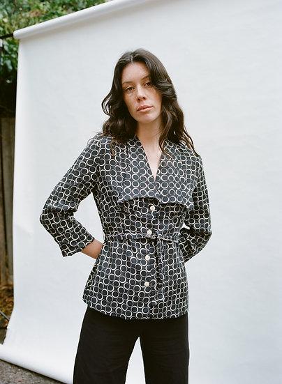 Vintage Dani Elle 70's Retro Collared Button Tie Up Shirt