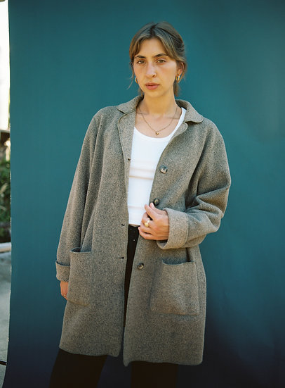 Vintage Teddy Trench Jacket