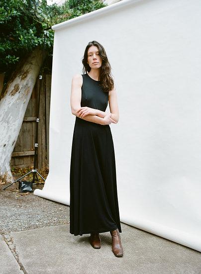 Vintage 90's Deborah Hutton Classic High Neck Full Length Dress
