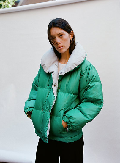 Vintage Deadstock Reversible Duck Down Puffer Jacket