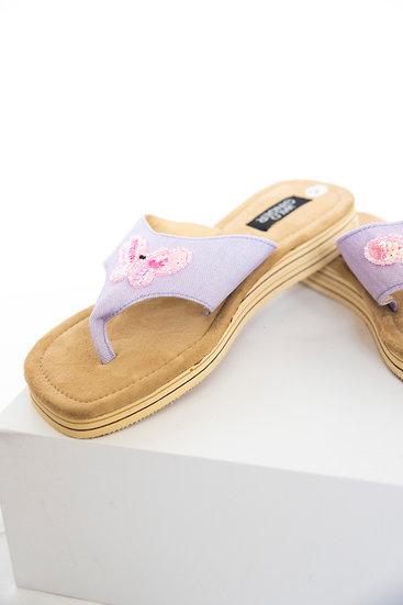 Deadstock Wild Ginger Y2K Butterfly Sequin Platform Thongs