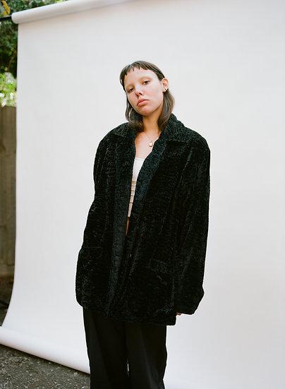 Vintage 90's Aussie Girl Fuzzy Faux Fur Fleece Button Jacket