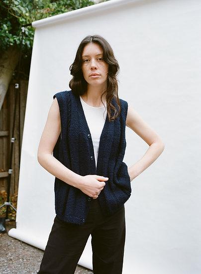 Vintage Australian Hand Knit Woollen Button Vest