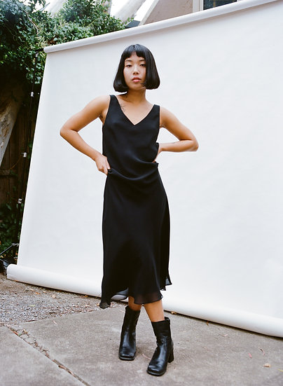 Vintage 90's Classic Lauia Black Middie Dress