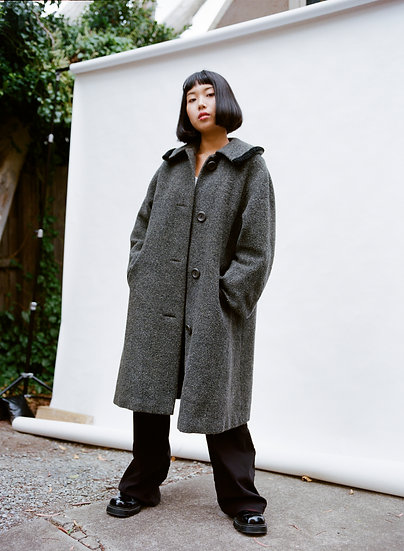 Vintage Aresco Melbourne Pure Wool and Mohair Trench Coat