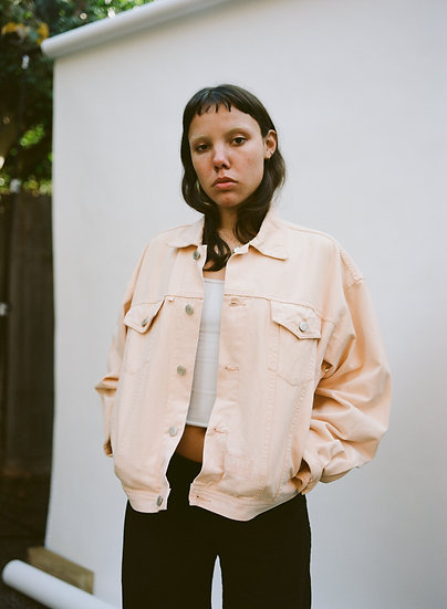 Vintage 90's Esprit Jeans Apricot Denim Jacket