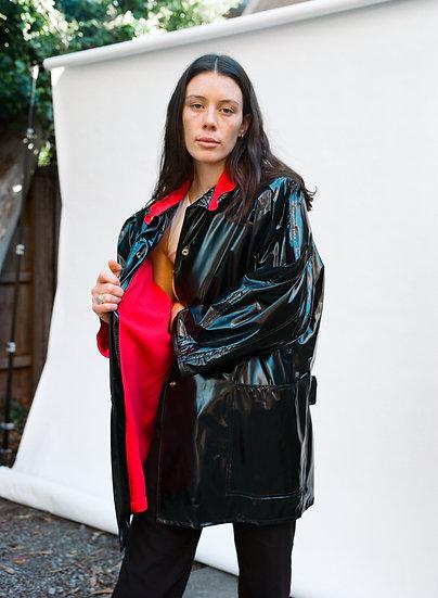 Vintage Sebena 80's Fashion Of Melbourne PVC Fleece Rain Coat