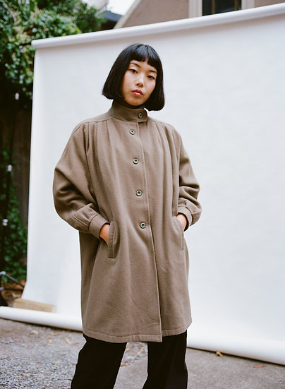 Vintage 80's Justina Pure Wool Trench Coat