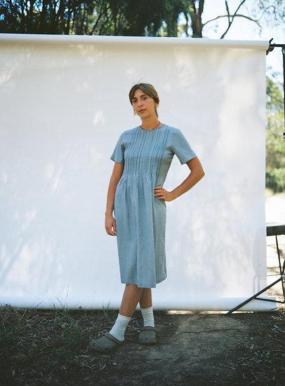 Vintage Gingham Smock Dress