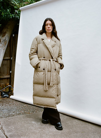 Arket Swedish Eco Repurposed Down and Feather Full Length Trench Puffer Jacket