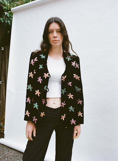 Alice Haute Couture Melbourne Made Designer Velvet Embroidered Flower Jacket