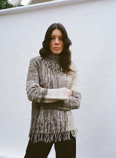 Vintage CKM Tassel Turtleneck Knit Sweater