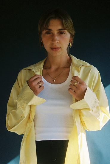 Vintage Yellow Cotton Shirt