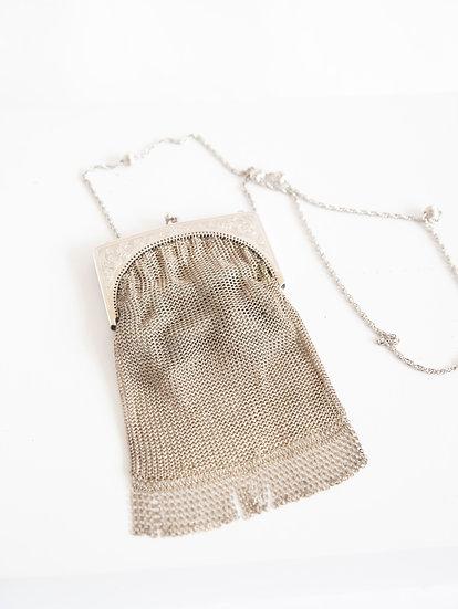 Vintage Oroton Silver Metal Chain Purse Shoulder Bag