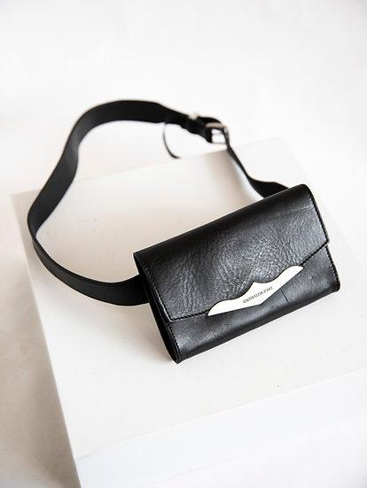 Vintage Calvin Klein Genuine Cow Leather Utility Belt Bag