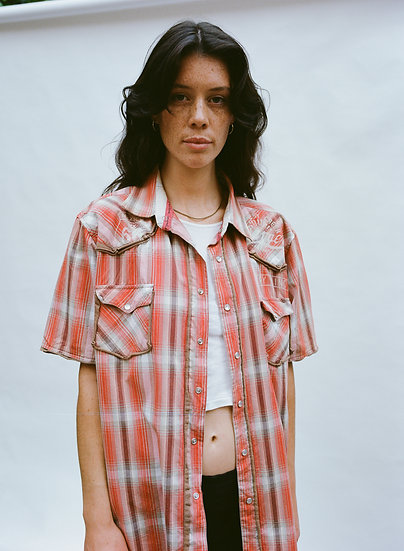 Vintage Angry Minds Checkered Deconstructed Shirt