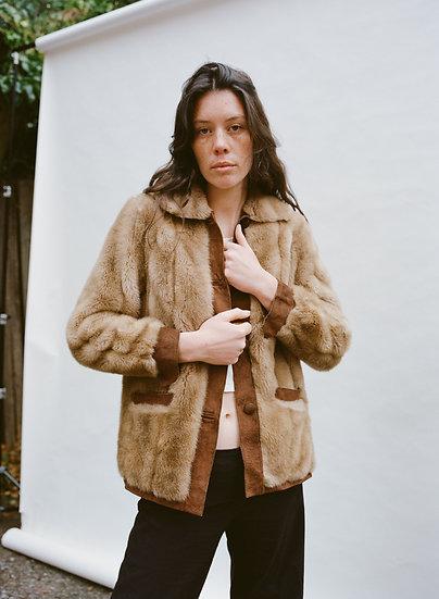 Vintage Furlook Of London Faux Fur and Genuine Leather Suede Jacket