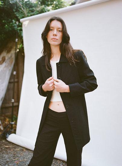 Vintage Net Girl Classic Tailored Black Jacket