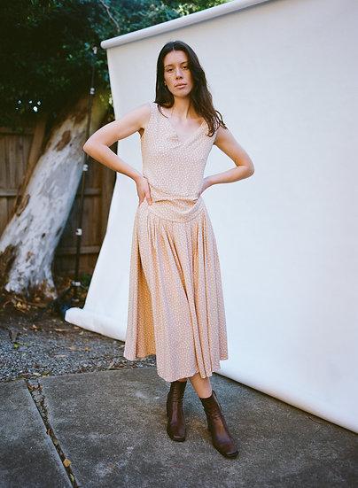 Vintage 'To Die For' 80's Floral Full Length Dress