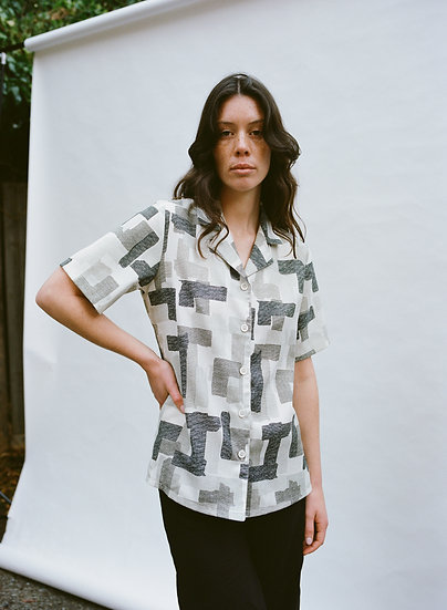 Vintage Serali Australian 70's Print Button Up Shirt