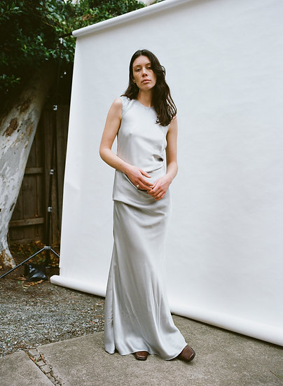 Vintage High Neck Drop Gathered Asymmetrical Full Length Formal Gown