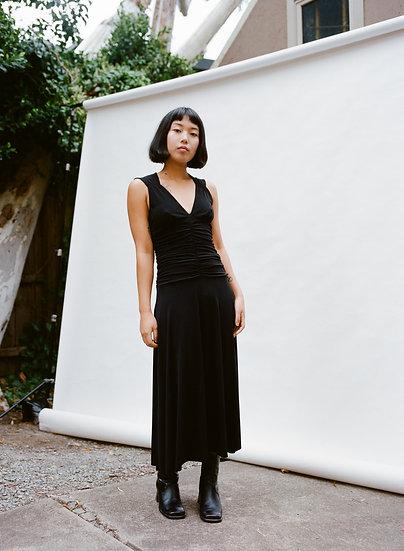 Vintage 90's Miss Me Full Length Gathered Dress