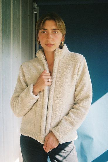 Vintage Faux Sheepskin Cropped Jacket