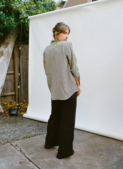 Vintage 90's Australian Postie Fashion Gingham Button Up Shirt