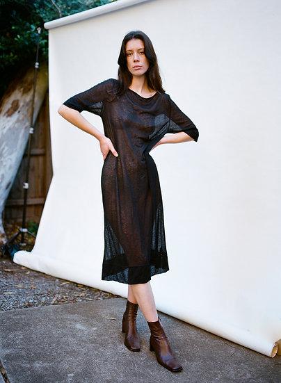Vintage Semi Sheer Middie Tshirt Dress