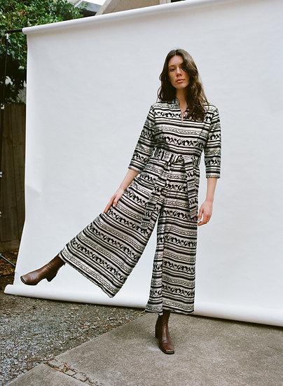 Vintage A Ralstan Gown 70's Wide Leg Full Body Jumpsuit