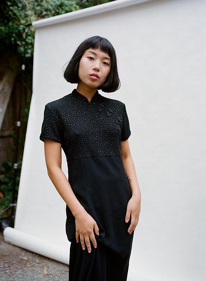 Vintage 90's MRK Chinese Inspired Full Length Formal Dress