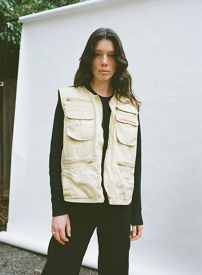 Vintage Distorted Clothing Cargo Zip Vest