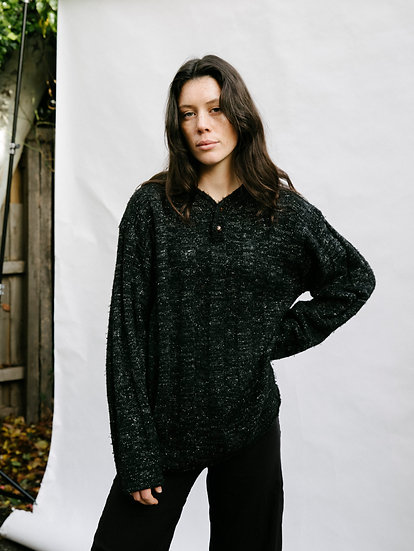 Vintage 90's Casual Works Woollen Knit Button Sweater