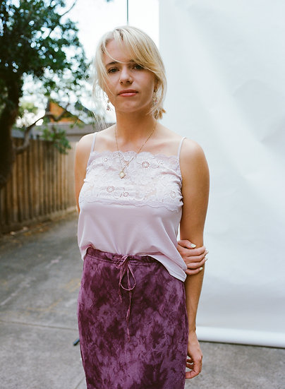 Intimo Lace Satin Silk Cropped Cami Singlet