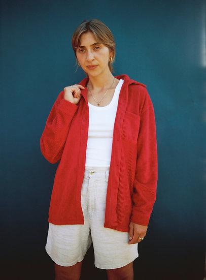 Vintage Red Soft Fluffy Corduroy Shirt