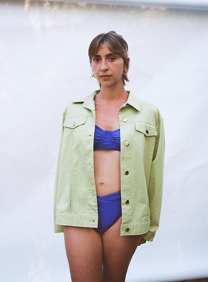 Vintage Lime Green Denim Jacket